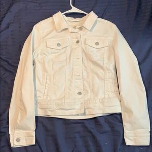 Women's white blue jean jacket (medium)